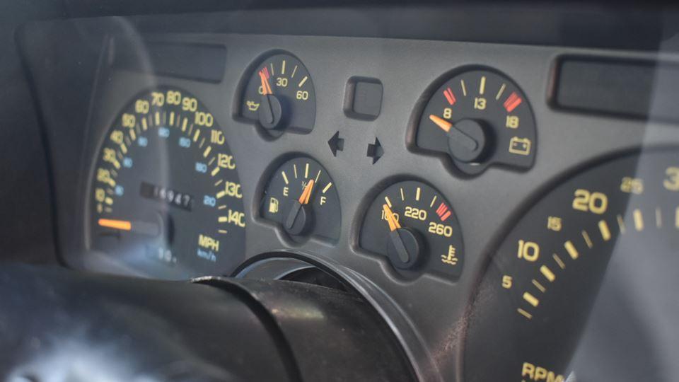 My 1992 Z28 cluster/dash installed.